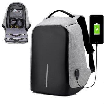 Marverlous Anti-Theft กระเป๋าเป้นิรภัยแล็ปท็อป Backpack - สีเทา