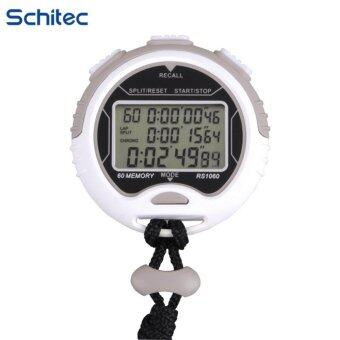 Harga SCHITEC New high waterproof stopwatch ,Memory(60) 3 Line Display Digital Professional Sports Stopwatch with Stroke Rate,Countdown Display Timer Alarm Clock Pacer Water Resistant for Coaches, Runners and Athletes - intl