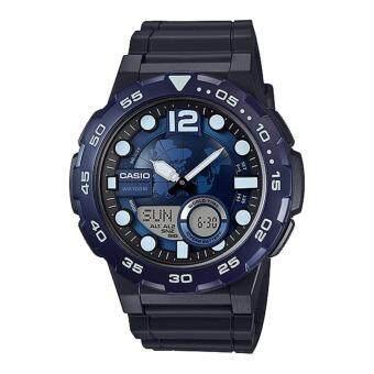 Casio Standard นาฬิกาข้อมือผู้ชาย สายเรซิ่น รุ่น AEQ-100W-2AVDF