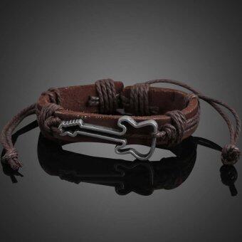 Harga Unique Guitar Shape Girl Boy Braid Bracelet String Band Bangle Coffee