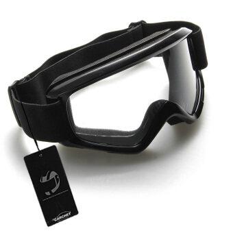 WiseBuy สีดำรถจักรยานยนต์มอเตอร์ครอส Enduro ออฟโรด Hemlet Windproof แว่นตาแว่นตา