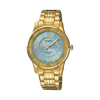 Casio Standard นาฬิกาข้อมือผู้หญิง ฟ้า สายสแตนเลส LTP-1358G-2AV