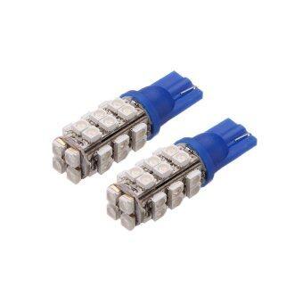 LED ไฟหรี่ T10 SMD 28 ดวง 1 คู่ ( สีฟ้า )