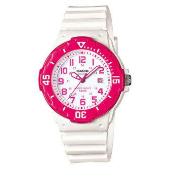 CASIO standard sport Lady นาฬิกาข้อมือผู้หญิง White/Pink สายเรซิ่น รุ่น LRW-200H-4BVDF