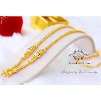 ManeeNopparut มณีณพรัช สร้อยคอ ทองคำ หนัก 2 บาท หุ้มทองหน้า 5 ไมครอน ยาว 20 นิ้ว