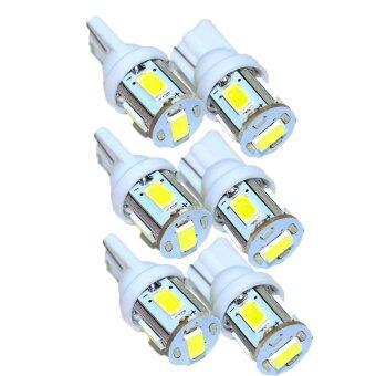 LED ไฟหรี่ SMD T10 5 ดวง ( 3 คู่ สีขาว )