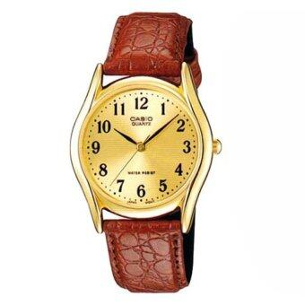 Casio Standard นาฬิกาข้อมือผู้หญิง รุ่น LTP-1094Q-9B (สีทอง สายหนังสีน้ำตาล)