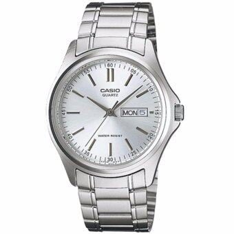 CASIO Standard นาฬิกาข้อมือผู้ชาย สีเงิน สายสแตนเลส รุ่น MTP-1239D-7ADF