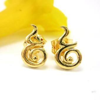 Thai Jewelry ต่างหูทอง เลข ๙ งานชุบทองไมครอน หุ้มทองคำ 100%