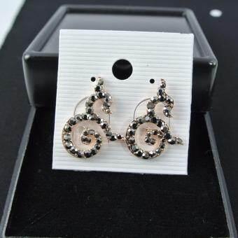 Pearl Jewelry ต่างหู 9 มหามงคล แมกกาไซด์ พิงค์โกลด์ A6