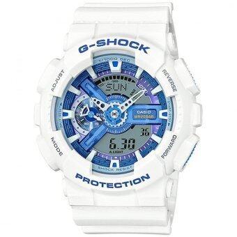 Casio G-Shockนาฬิกาข้อมือผู้ชาย สายเรซิ่น รุ่น GA-110WB-7A - สีขาว