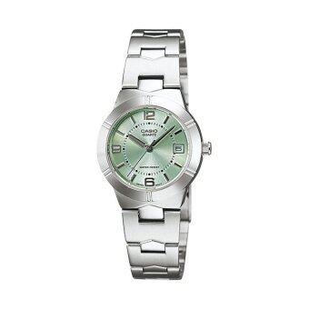 Casio Standard นาฬิกาข้อมือผู้หญิง สายสแตนเลส รุ่น LTP-1241D-3ADF - Silver/Green