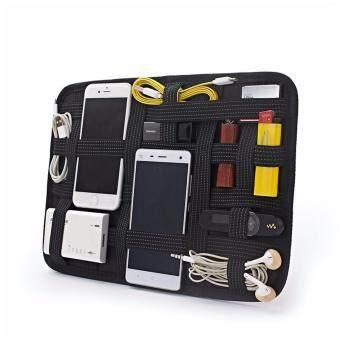 SPATTR STORAGE BOARD กระเป๋าเอกประสงค์ กระเป๋าจัดระเบียบ เก็บอุปกรณ์ สำหรับเดินทาง โทรศัพย์ เคสมือถือ กุญแจ หนังสือเดินทาง ( สีดำ )