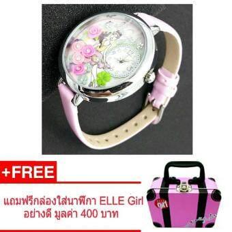 ELLE Girl นาฬิกาข้อมือผู้หญิง แบรนด์ดังจากฝรั่งเศส ออกแบบแนวแฟชั่น น่ารัก ทันสมัย รุ่น GW40111S04X - ( สีชมพู )