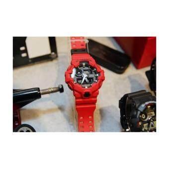 CASIO G-Shock นาฬิกาข้อมือผู้ชาย สีดำ/แดง สายเรซิน รุ่น GA-700-4Aประกันcmg