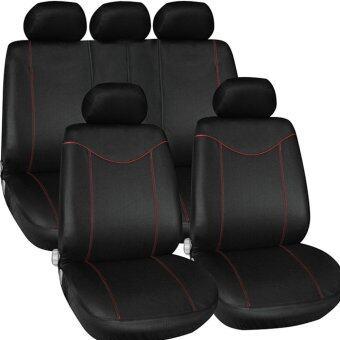 ภายในรถเบาะบังทิโรลอุปกรณ์อัตโนมัติลักษณะสากลของผ้าคลุมรถสีดำ+สีแดง