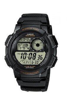 Casio Standard นาฬิกาข้อมือผู้ชาย สายเรซิ่น รุ่น AE1000W-1A - Black