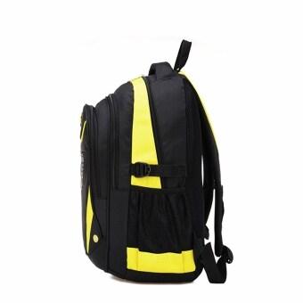 Children Boys Student Waterproof Backpack School Bookbag Rucksack Shoulder Bag Yellow (image 1)