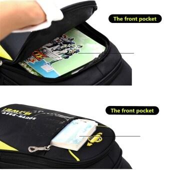 Children Boys Student Waterproof Backpack School Bookbag Rucksack Shoulder Bag Yellow (image 4)