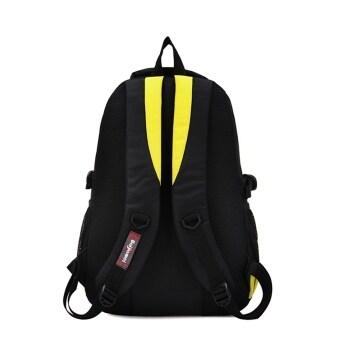 Children Boys Student Waterproof Backpack School Bookbag Rucksack Shoulder Bag Yellow (image 2)