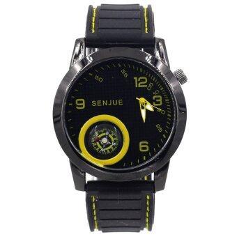 ADVANTURE นาฬิกาข้อมือผู้ชาย รุ่น เข็มทิศ - GP9206 (Black/ Yellow)