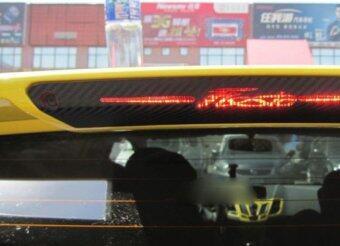 คาร์บอนไฟเบอร์ปิดท้ายการตกแต่งไฟเบรกติดสติกเกอร์เคสสำหรับ ford fiesta รถแฮตช์แบ็ก 2009 ที่ 2015 รถสไตล์เครื่องประดับ 1ชิ้นสติกเกอร์เรซิน