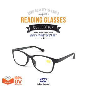 Action Eyewear แว่นสายตายาว สำหรับอ่านหนังสือ องศา +1.50 รุ่น 9022 #C1 สี Black - ฟรี กล่องใส่แว่น + ผ้าเช็ดแว่น