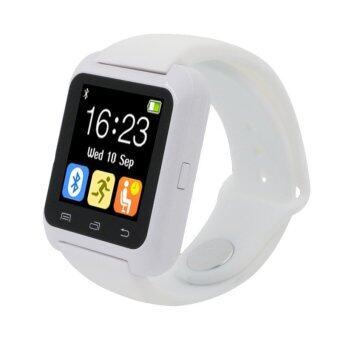 นาฬิกาข้อมือเครื่องวัดระยะทางเดินแข็งแรงฉลาดบลูทูธสำหรับ iPhone LG Samsung ขาว