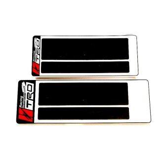 ป้ายทะเบียนกันน้ำ สั้น-ยาว license plate TRD (สีขาว)