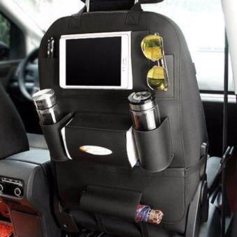 Smartmall ที่ใส่ของในรถเอนกประสงค์ กระเป๋าใส่สัมภาระอเนกประสงค์ด้านหลังเบาะ สีดำ