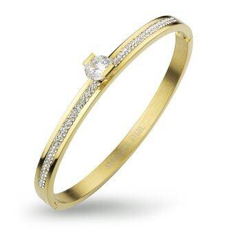555jewelry 316L Bangle กำไล รุ่น MNC-BG234-B (สี Yellow Gold)