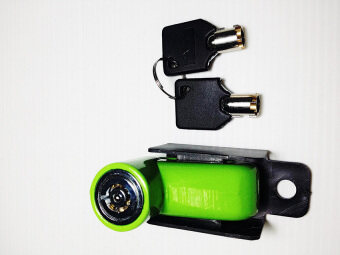 Work VAUKO : Bike Motorcycle Scooter Bicycle Anti-theft Disk Disc Brake Rotor Lock (Green) กุญแจกันขโมย ล๊อก/ล๊อคดิสเบรก สีเขียว LockDisc-01G