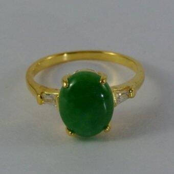 Pearl Jewelry แหวนหยก Green Jade No.5
