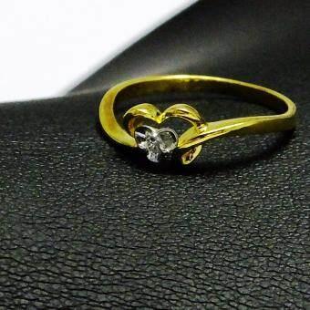 Champagne Dimonds แหวนทองคำแท้ ประดับเพชรแท้ (LR002Y)