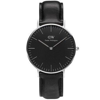 Daniel Wellington DW00100145 Classic Sheffield Horloge 36mm นาฬิกาข้อมือ แฟชั่น ผู้ชาย ผู้หญิง สีเงิน Unisex Watch - Silver Dial