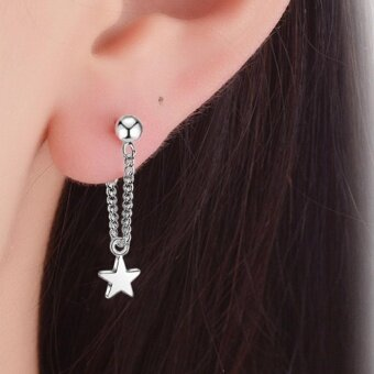 Harga Kuhong Fashion Fine Five-pointed star Earrings - intl