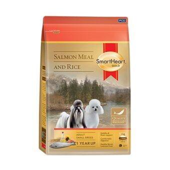 Smartheart Gold Salmon&Rice อาหารสุนัขพันธุ์เล็ก แซลมอนและข้าว ขนาด 3 กก.
