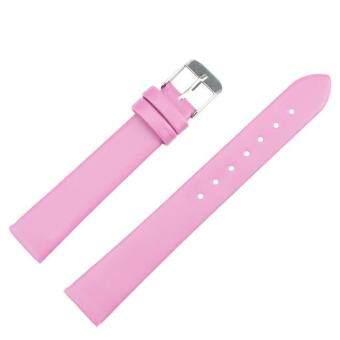 16มมนาฬิกาแฟชั่นนาฬิกาเครื่องหนังสตรีสายรัดสีชมพู