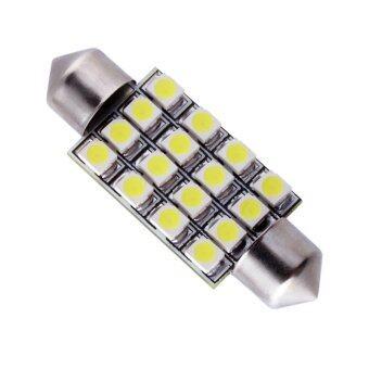 LED หลอด SMD 16 เม็ด ส่องแผนที่และส่องสัมภาระในรถ แสงสีน้ำเงิน 1 อัน ( SUPER BLUE) 84-racing