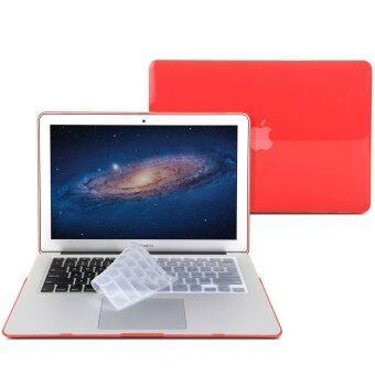 GMYLE เคส MacBook Air 13 นิ้ว พร้อม Keyboard Cover (สีแดง)