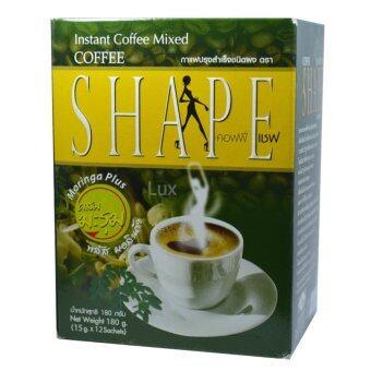 Coffee Shape คอฟฟี่เชฟ กาแฟผสมมะรุม พลัสมอลินก้า กาแฟลดน้ำหนัก เพื่อสุขภาพ หุ่นสวย สั่งได้ บรรจุ 12 ซอง (1 กล่อง)