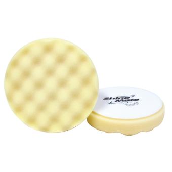 SHINE MATE ฟองน้ำขัดเคลือบสีรถ รุ่น Waffle สีขาว ขนาด 6 นิ้ว