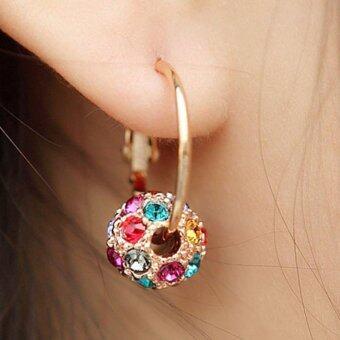 แหวนคู่ต่างหูห่วงขนาดใหญ่สไตล์ต่างหูตุ้มหูเครื่องประดับหูสำหรับผู้หญิง