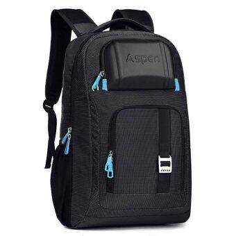 Aspensport กระเป๋าLaptop เป้โน๊ตบุ๊ค 18 นิ้ว มีช่องแยกเป็นสัดส่วน รุ่น AS-B18 (สีดำ)