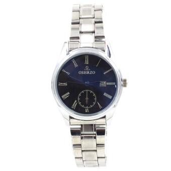 OSHRZO Date Quartz นาฬิกาผู้หญิง ระบบวันที่ รุ่น WP8085 (Silver/Blue)