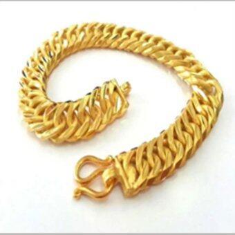 MONO Jewelry สร้อยข้อมือจากเศษทองแท้ลายแบนโปร่งพ่นทราย น้ำหนัก ๒ สลึง