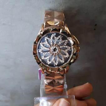 Mashali MS013 นาฬิกาข้อมือผู้หญิง หน้าปัดหมุนได้