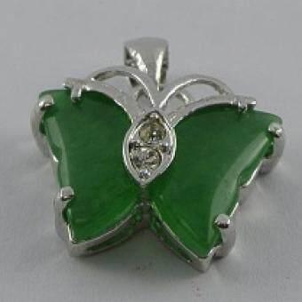 Pearl Jewelry จี้ห้อยคอหยกผีเสื้อ PD22
