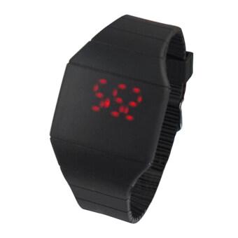 นาฬิกาขนาดบางเฉียบหน้าจอสัมผัสแมงกะพรุนไฟ led นาฬิกานาฬิกา