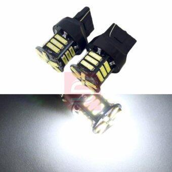 LED หลอดไฟ 21 LED สีขาว ขั้ว T20 แบบเสียบ สำหรับ ไฟหรี่ ไฟเลี้ยว ไฟถอย (สีขาว)